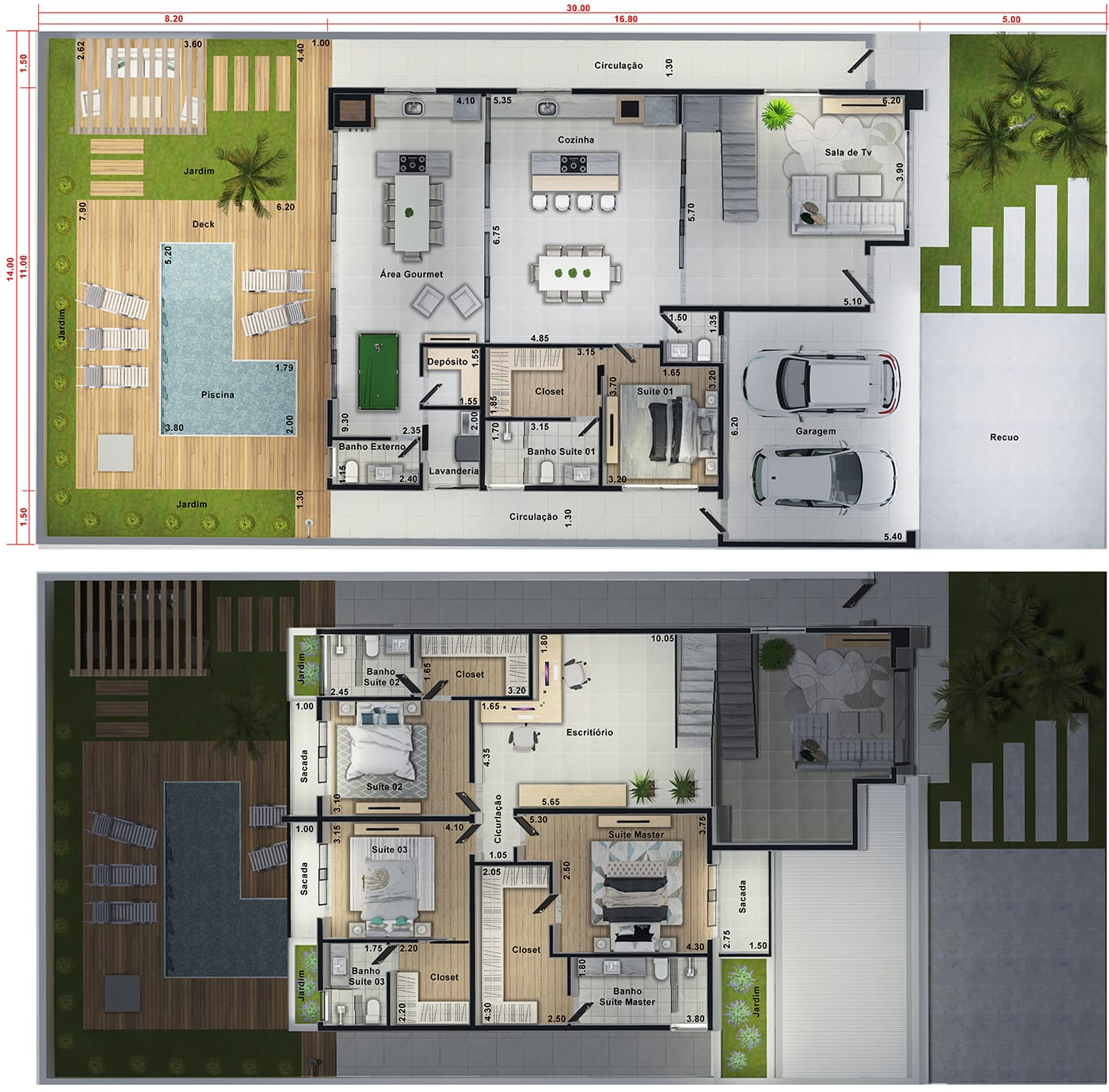 High standard townhouse with 4 suites14x30
