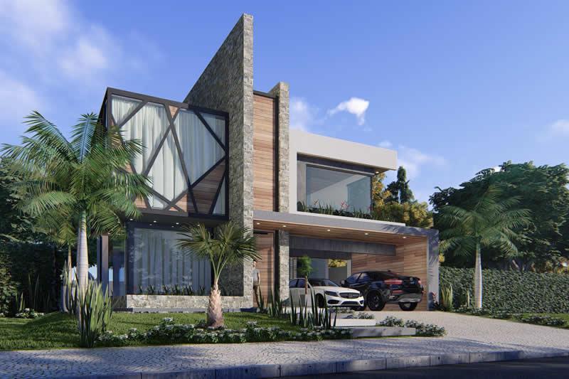Project of sobrado with imposing facade