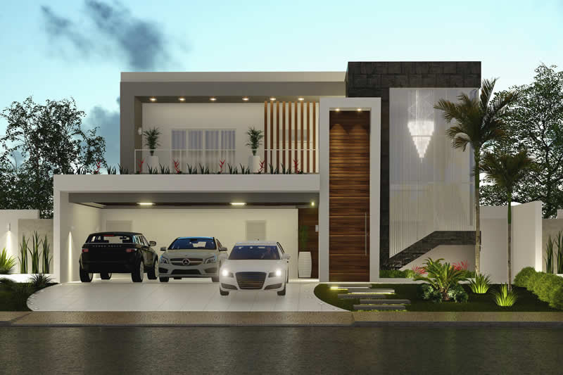 House project with balcony