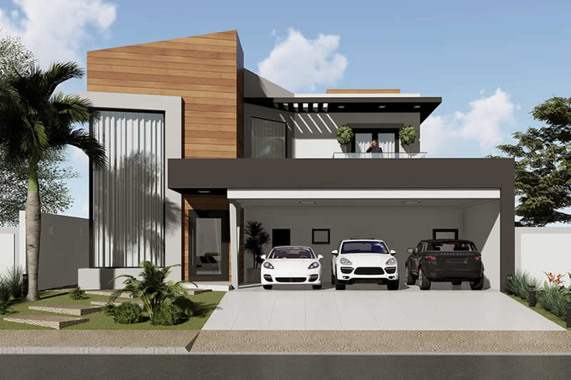 Modern sobrado project with 4 suites