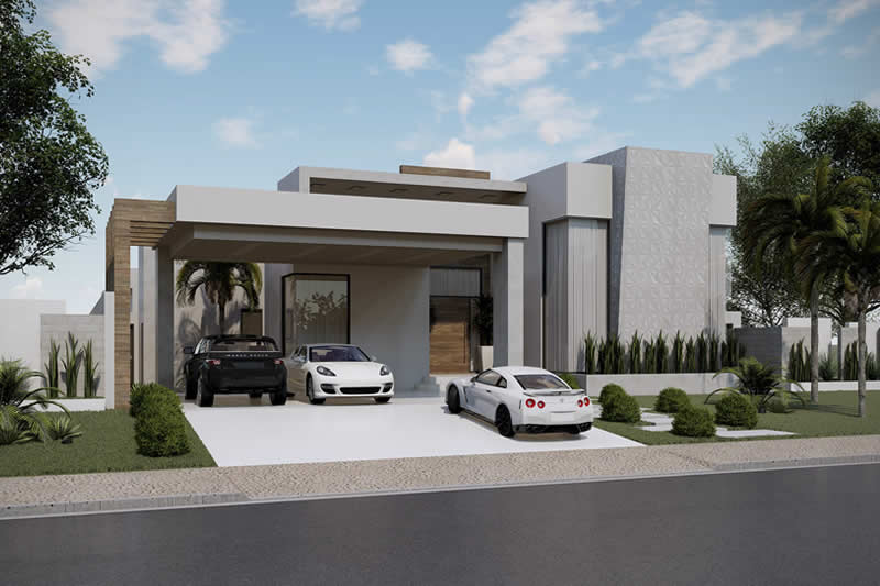 Single storey house for large plot