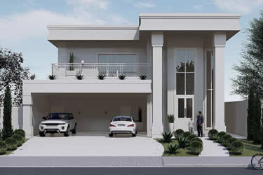 Modern neoclassical house plan