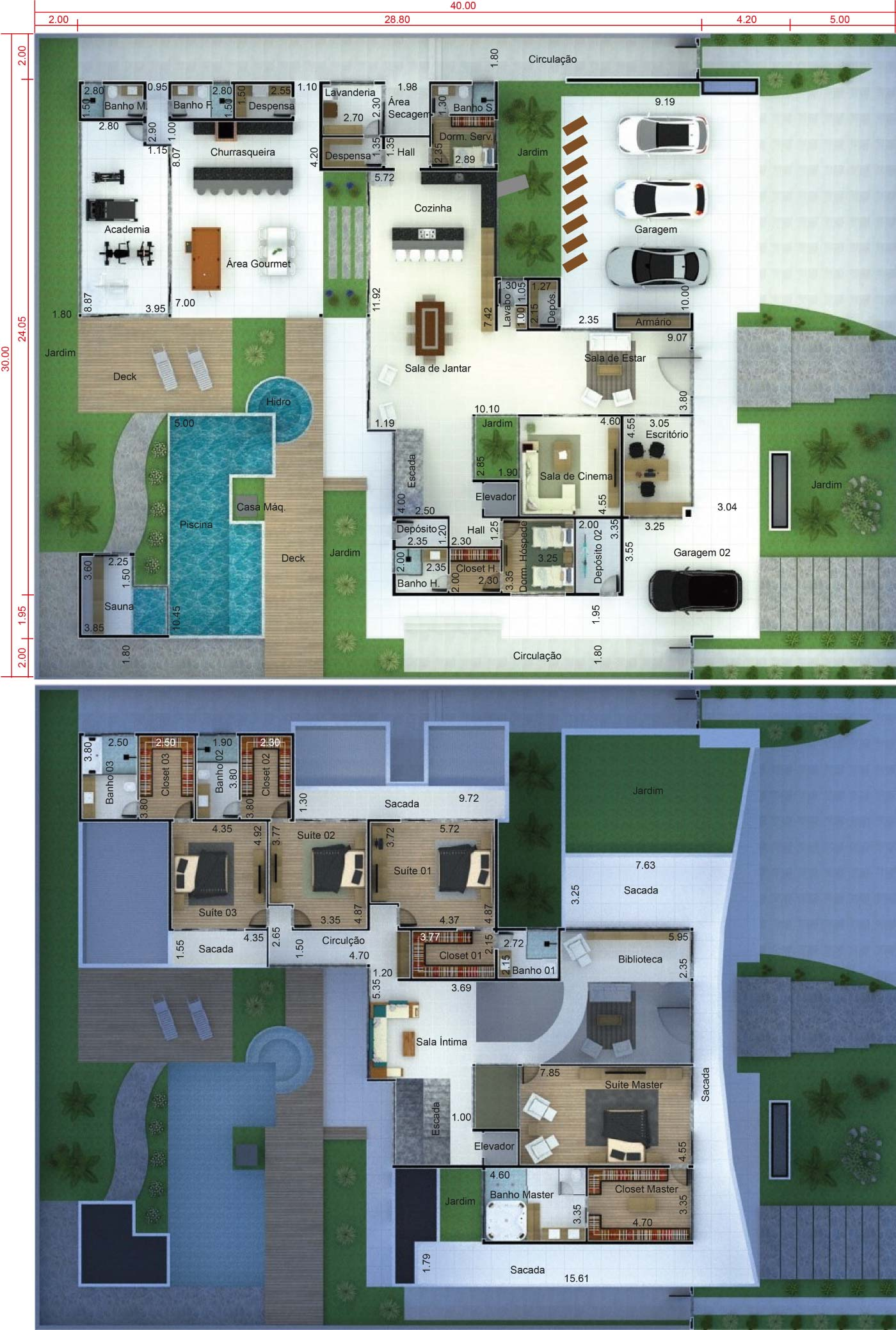 Contemporary mansion project30x40