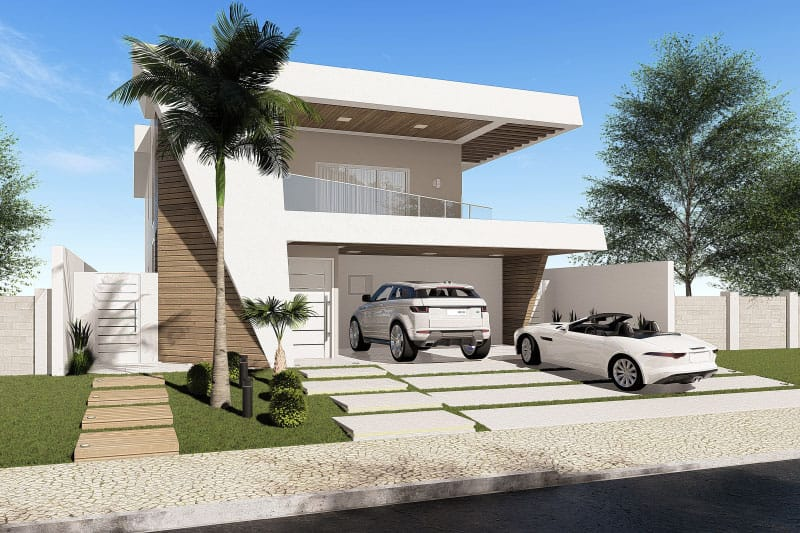 Contemporary townhouse plant