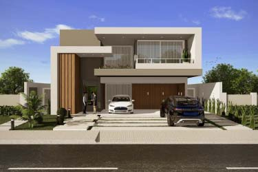 House design with modern facade