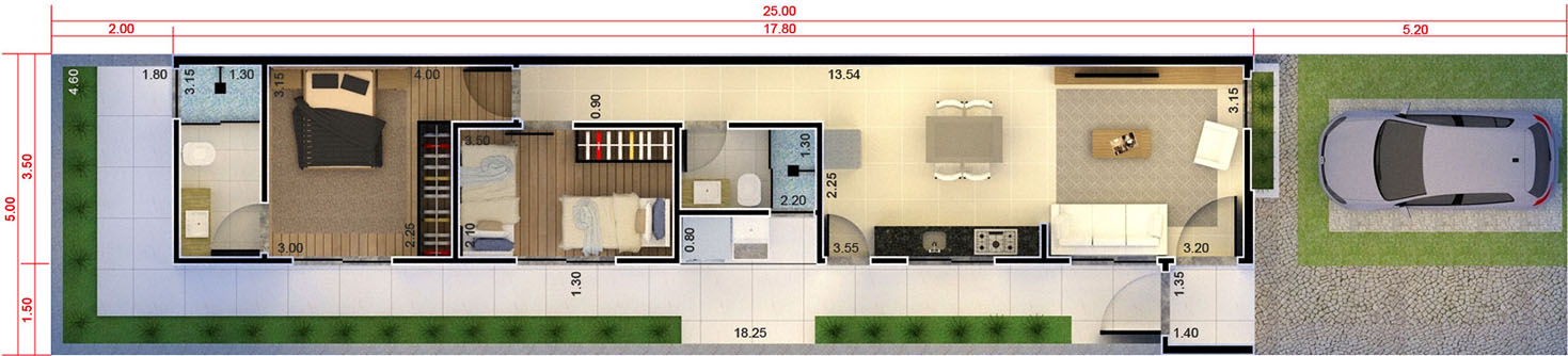 Plant my house, my life with a suite5x25