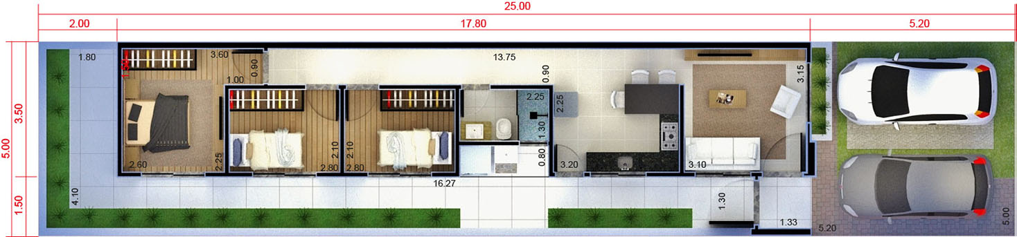 Plant my house my life 3 bedrooms5x25