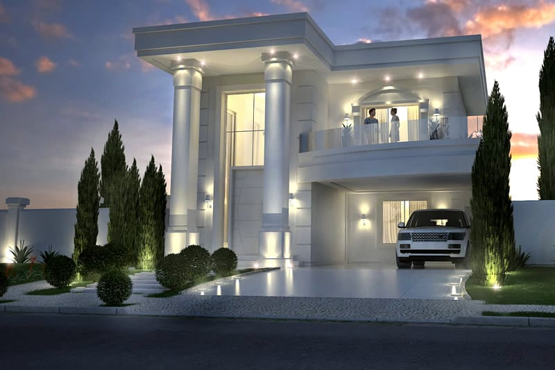 Neoclassical house plan
