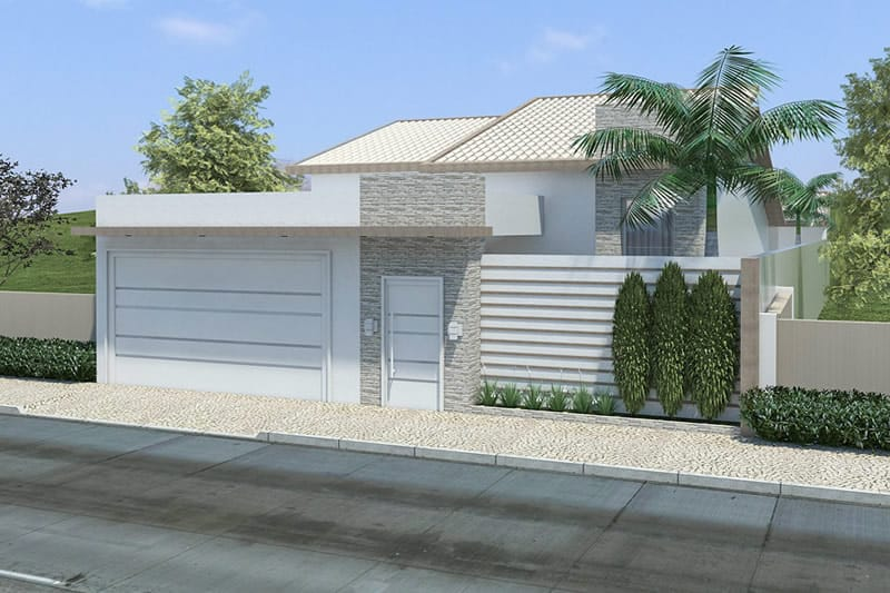House plan with building plot
