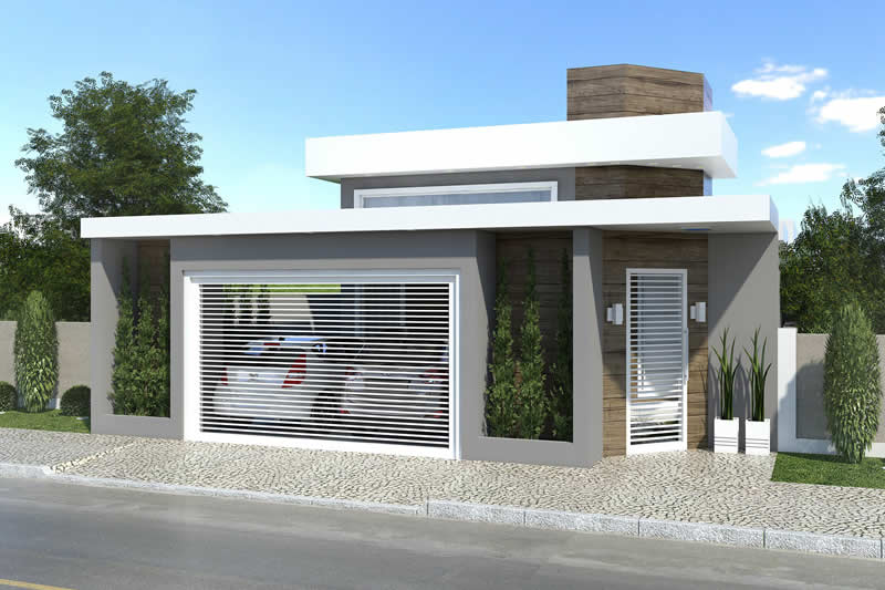 Single storey house plan with building plot