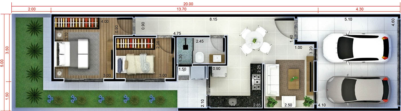 House plan to sell or rent5x20
