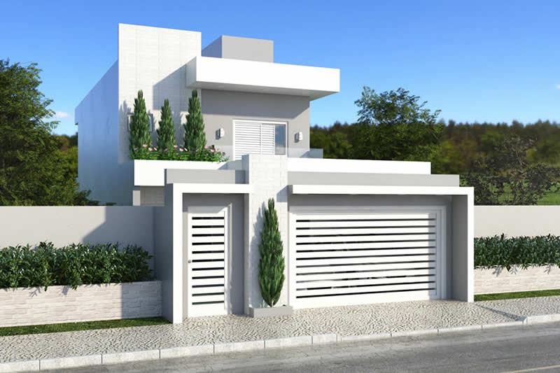 House plan with 3 bedrooms with balcony
