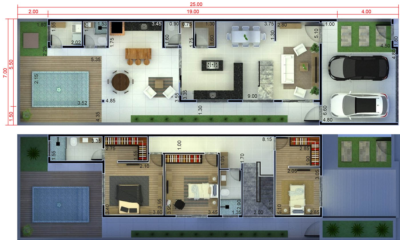 Floor plan with pantry7x25