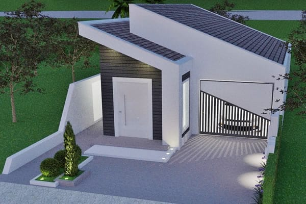 Ground floor house with 2 bedrooms