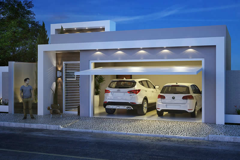 House plan with 3 bedrooms and closet