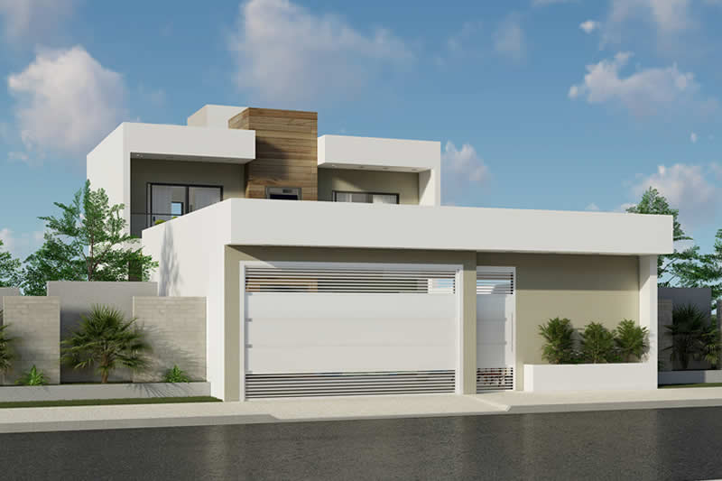 House plan with pool in front