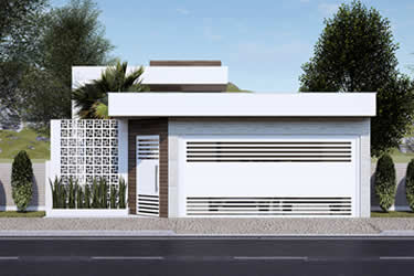 Modern house plan with 2 bedrooms