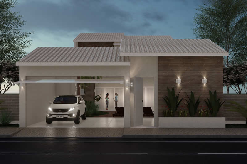 Floor plan with swimming pool in front