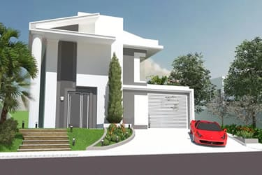 House plan in classic style