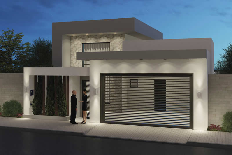House plan with 2 bedrooms and gourmet area