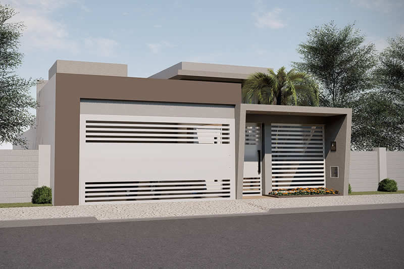 Small house plan with garage