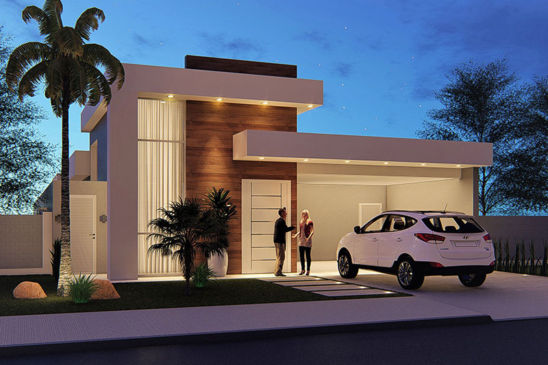 Modern house plan with 4 bedrooms