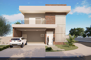 3 bedroom corner house plan