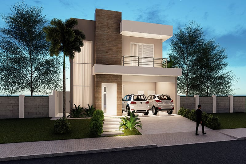 Floor plan with master suite and balcony