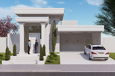 Neoclassical single storey house plan