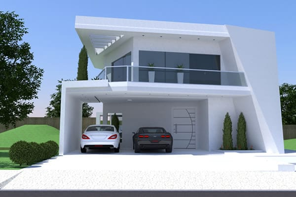Contemporary floor plan with 3 suites