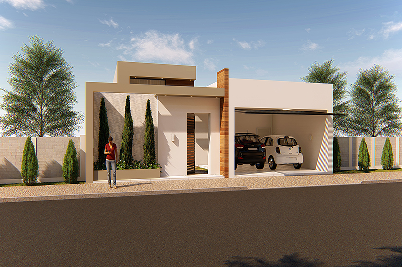 House design with separate intimate area