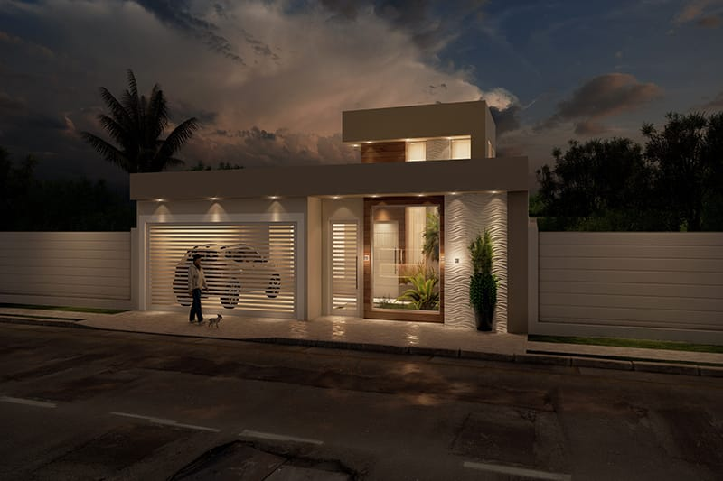 House plan with 2 bedrooms and 1 suite