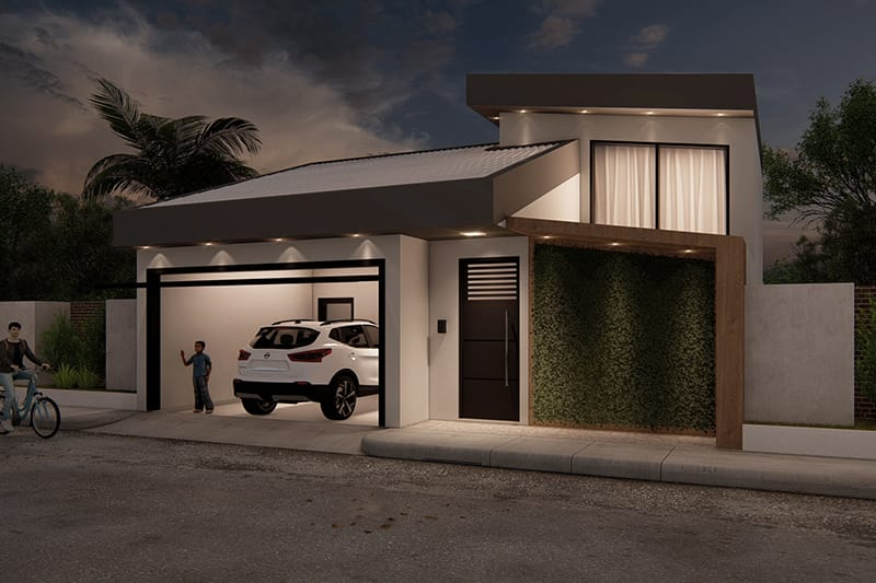 Functional one-story house project