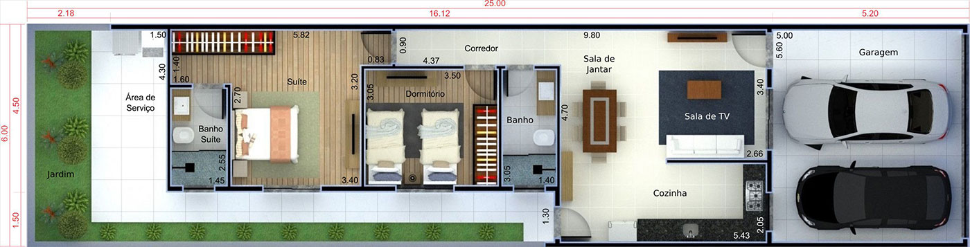 House plan for investment6x25