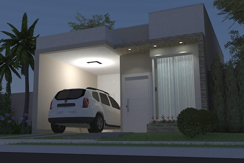 Simple house plan with garage