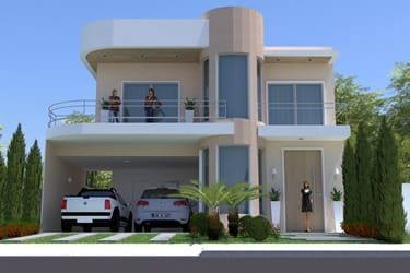 Small modern townhouse plan