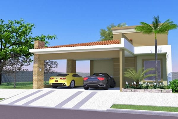 Ground floor house with large garage