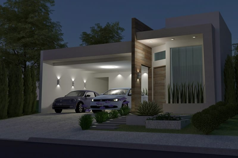 House plan with leisure area