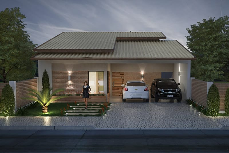 House for land of 10 by 20 meters