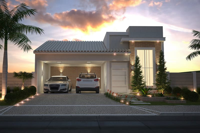 House Plan With Brick Fa 231 Ade Plans Of Houses Models And