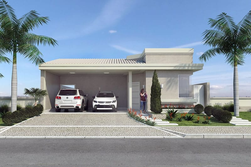 Ground floor house with barbecue