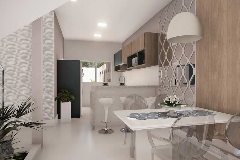 Small and modern townhouse