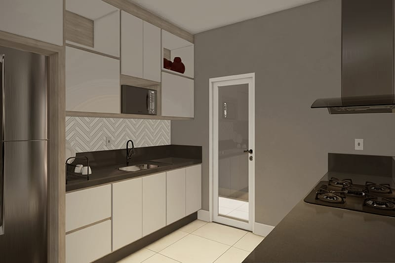 House plan with American kitchen